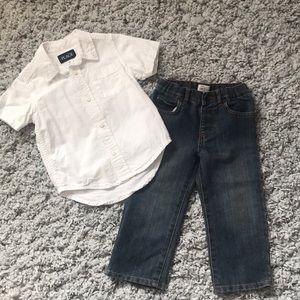 GUC Boys Children's Place Shirt/Jeans Set Size 2T